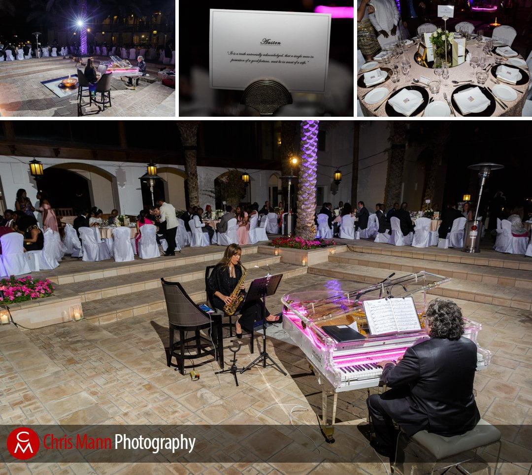 wedding reception in Palm Garden Park Hyatt Dubai