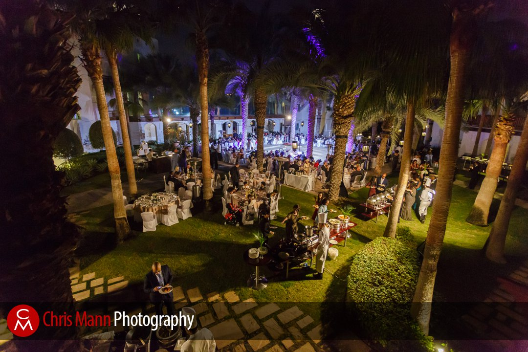 wedding breakfast in the Palm Garden Park Hyatt Dubai