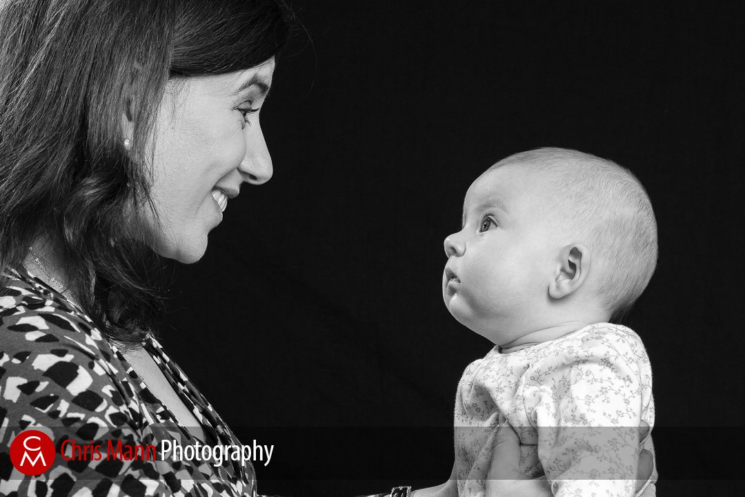 baby and Mum smiling