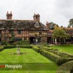 Langshott Manor rear exterior view with gardens