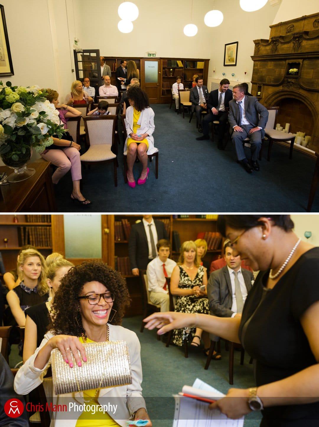 civil ceremony mayfair library wedding