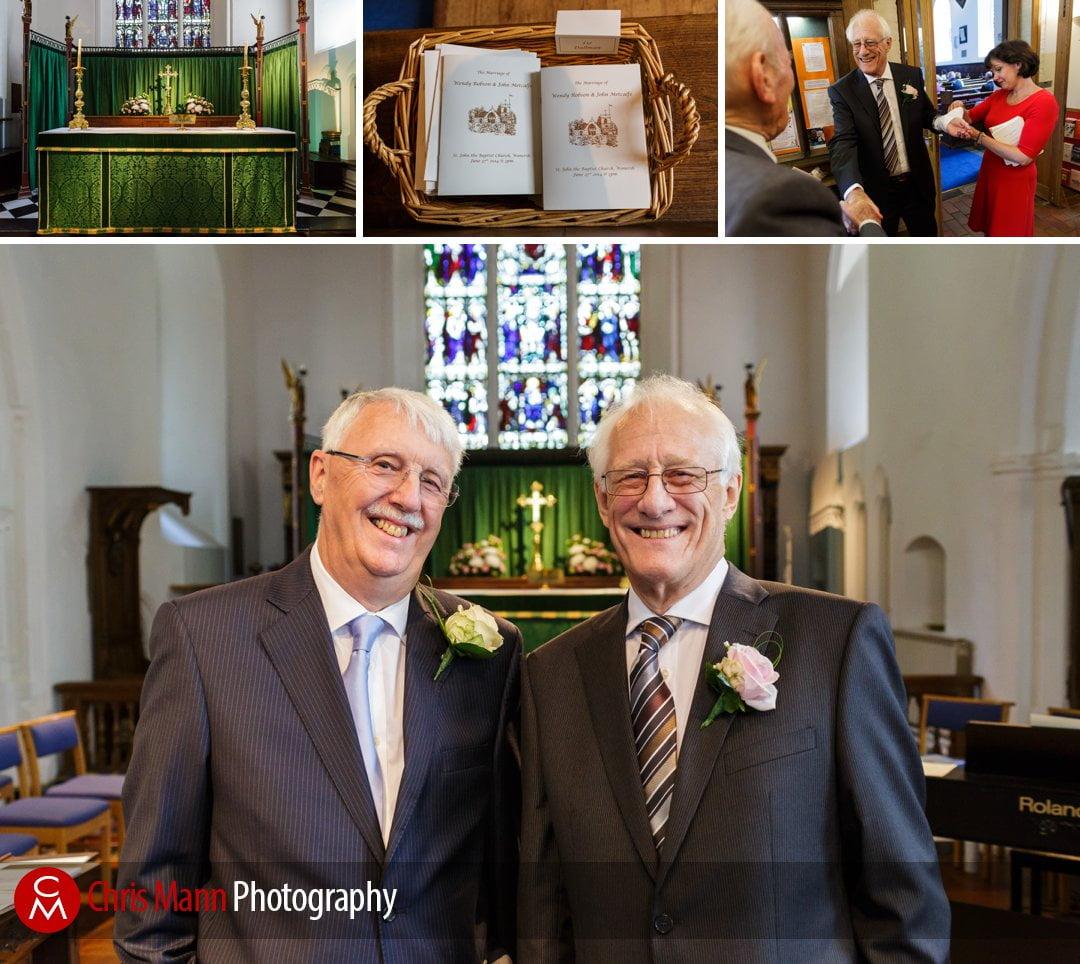 groom and best man at St Johns church wonersh surrey