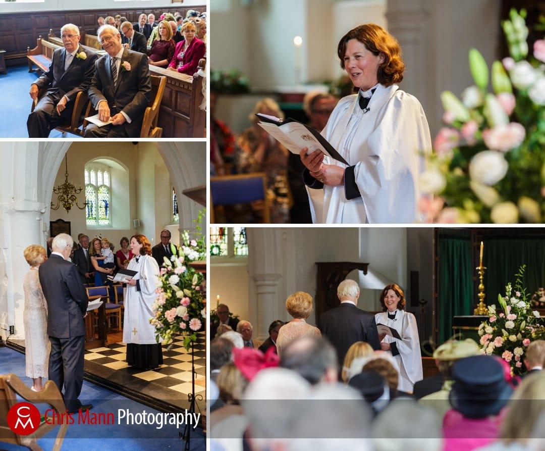 wedding ceremony at St Johns Wonersh surrey