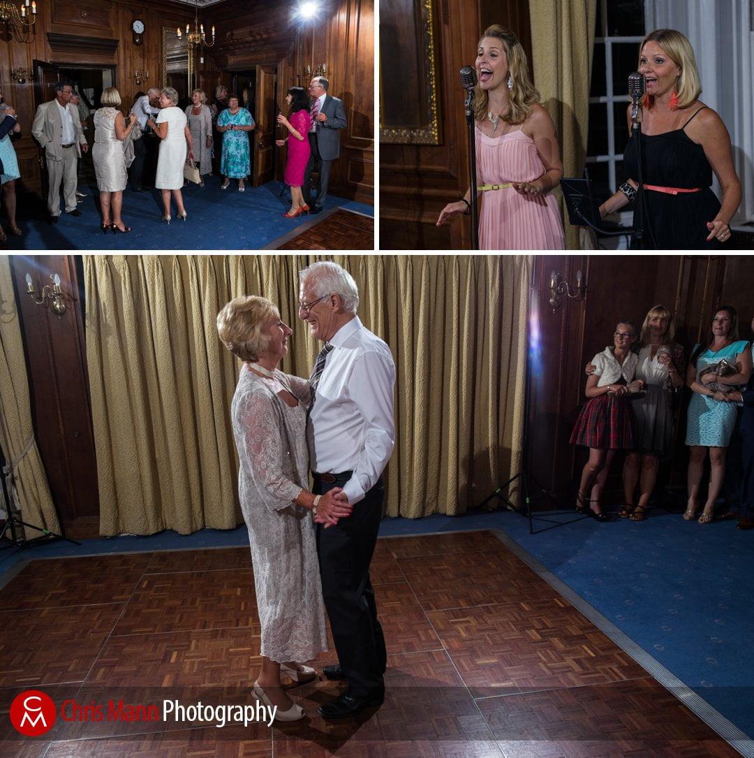 bride and groom first dance Barnett Hill wedding venue surrey