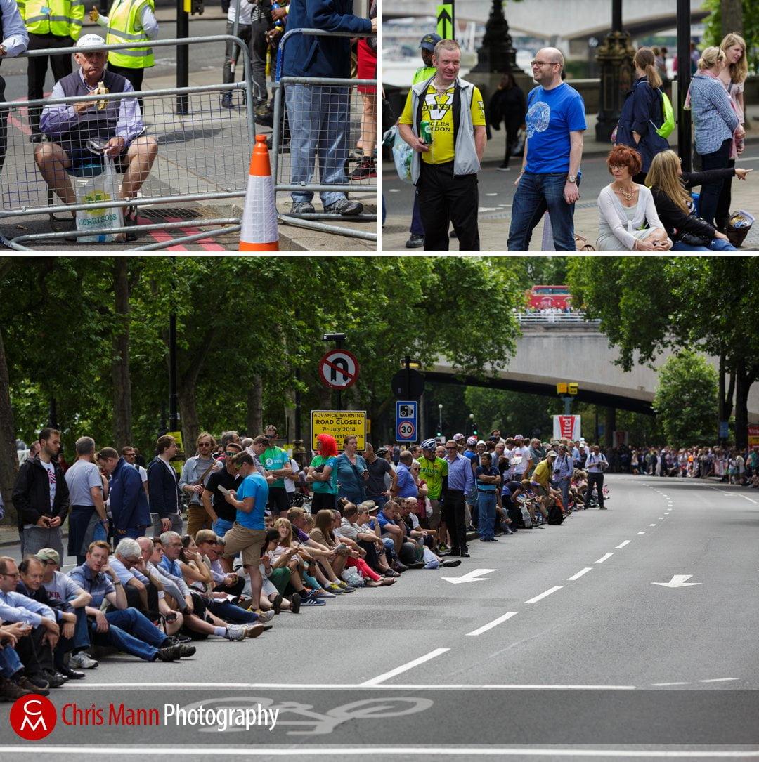 Tour de France 2014 stage 3 London spectators line the Embankment