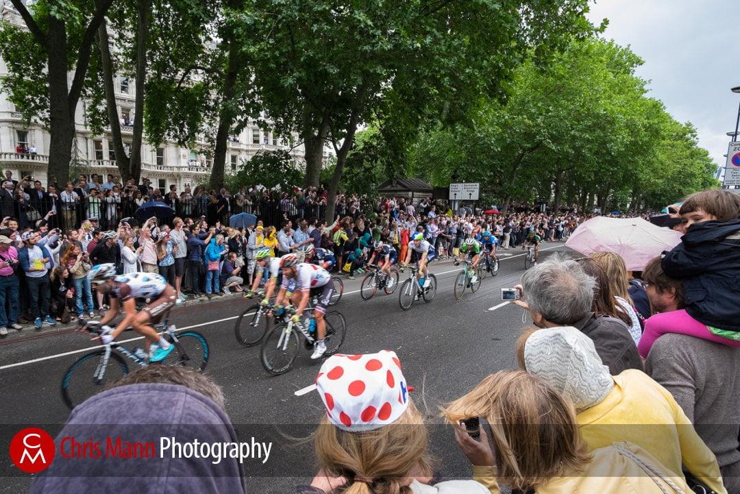 cyclists race along the Embankment Tour de France 2014 stage 3 London