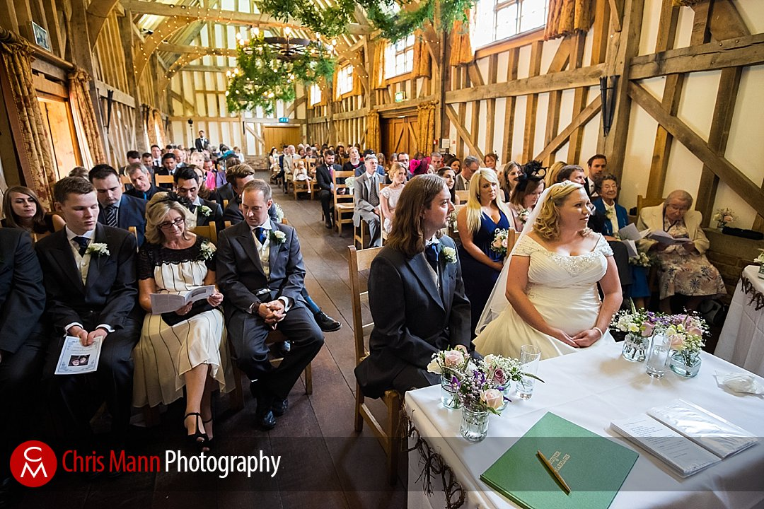 civil wedding ceremony Gate Street Barn
