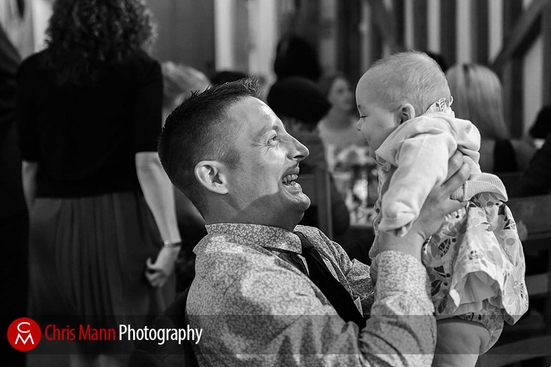 wedding guest with baby