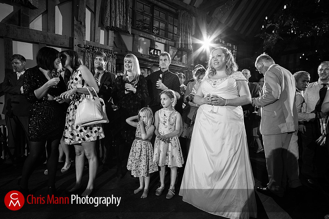 bride and guests Gate Street Barn