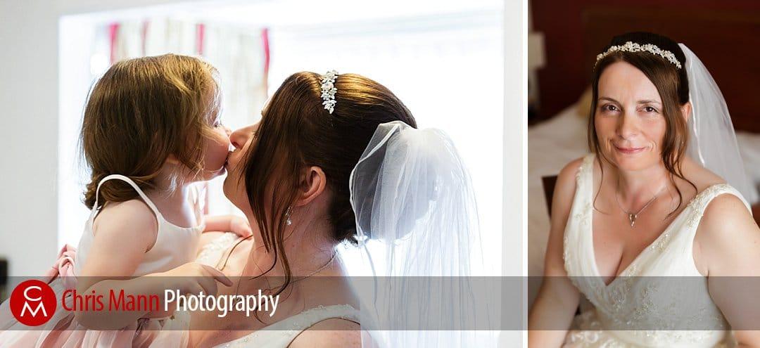 bridal preparations at Manor House Hotel Guildford