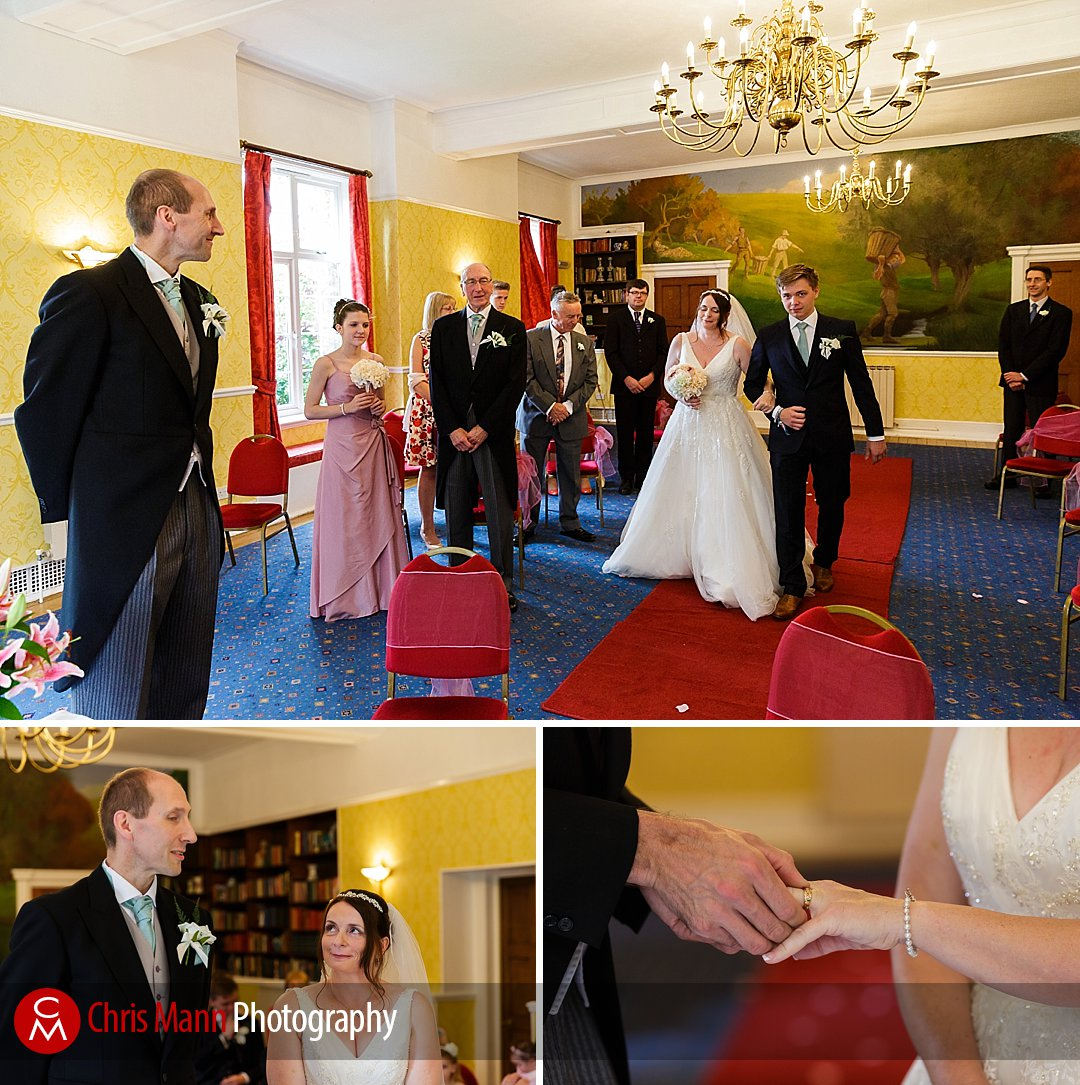 Manor House Hotel wedding ceremony Guildford