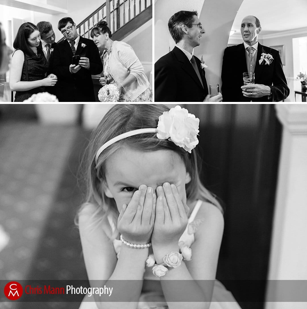 wedding guests Manor House Hotel Guildford