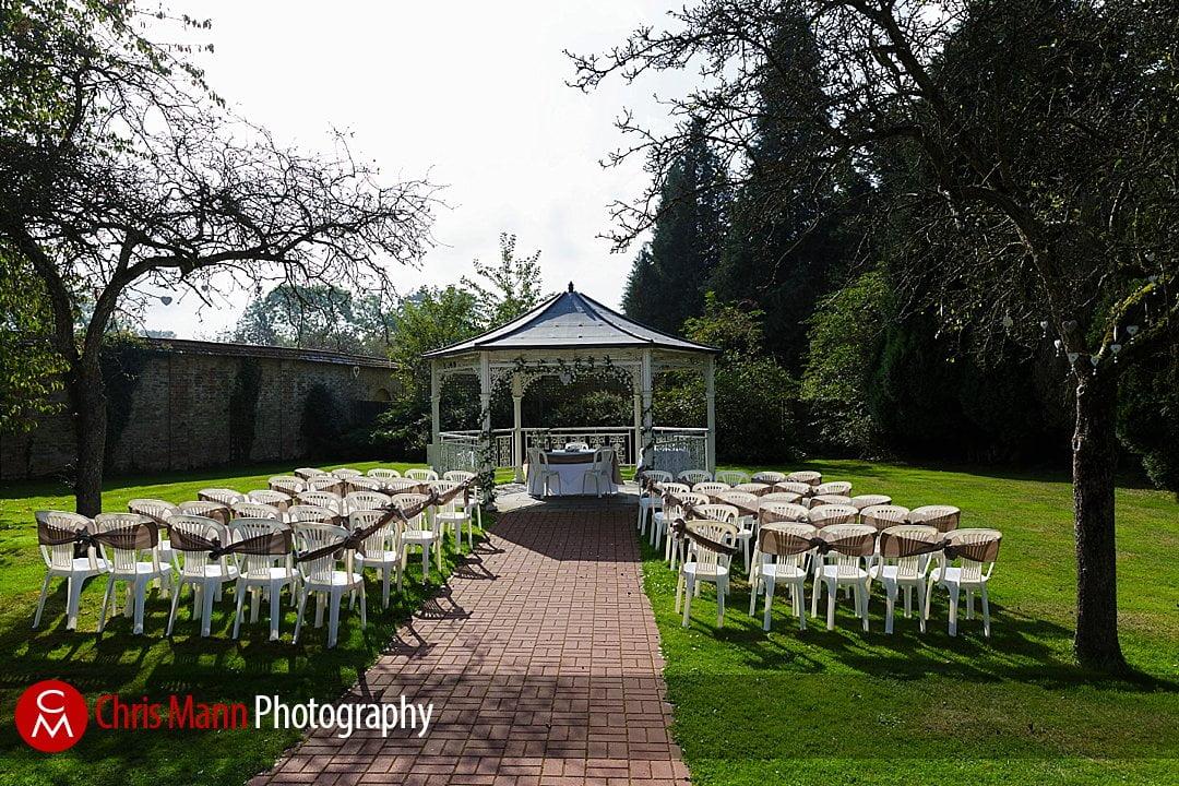 Manor House Hotel wedding photography gazebo in garden