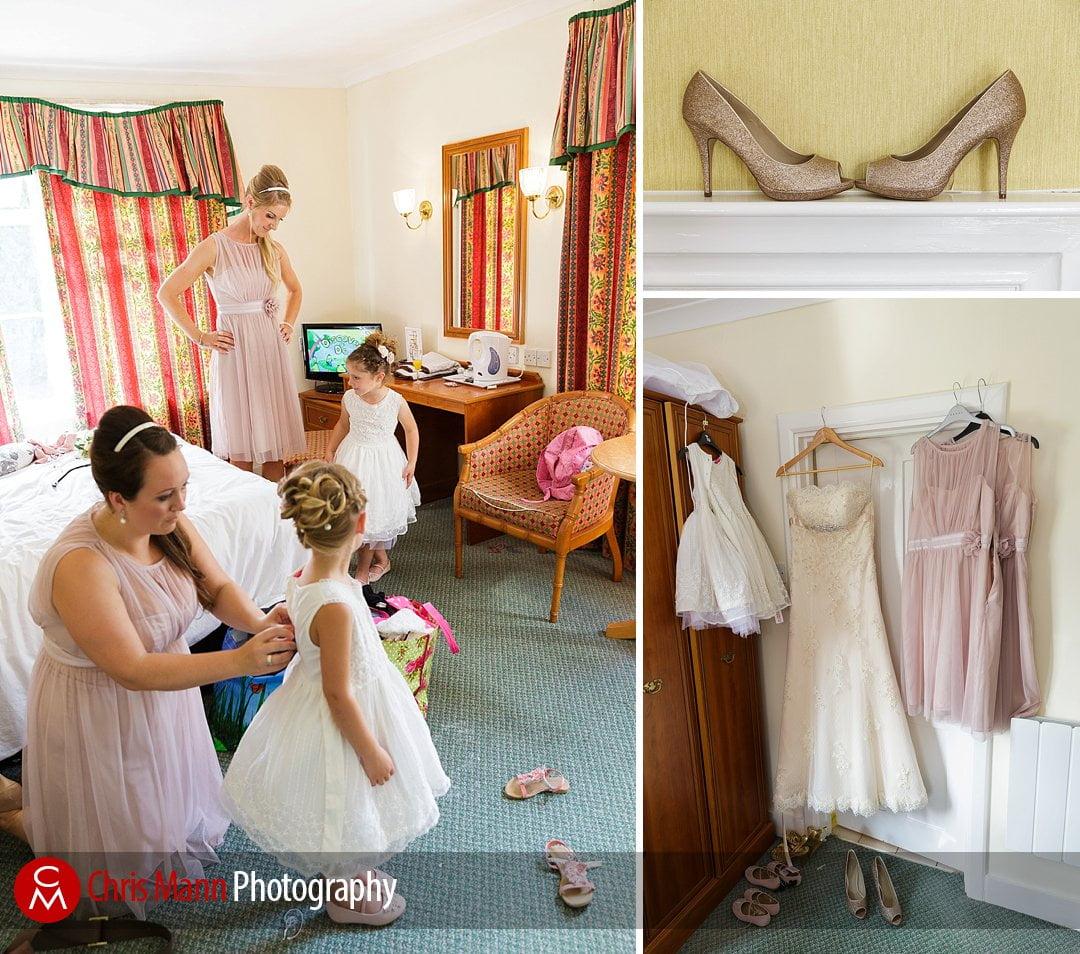 bridal preparations Manor House Hotel wedding photography
