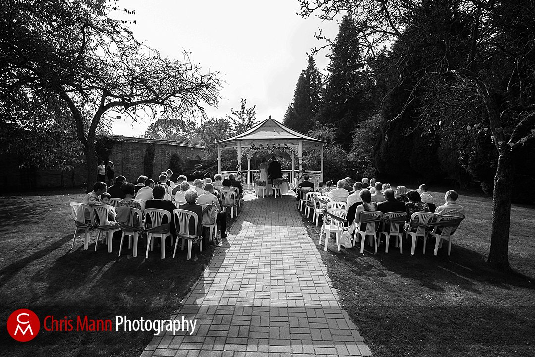 guests at wedding outdoor ceremony Guildford