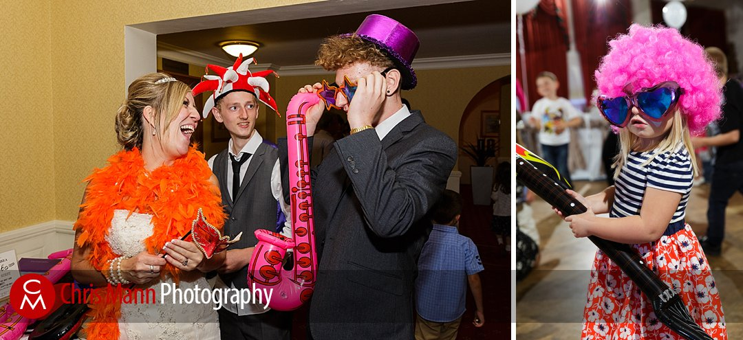 party time fancy dress photo booth Guildford Surrey wedding