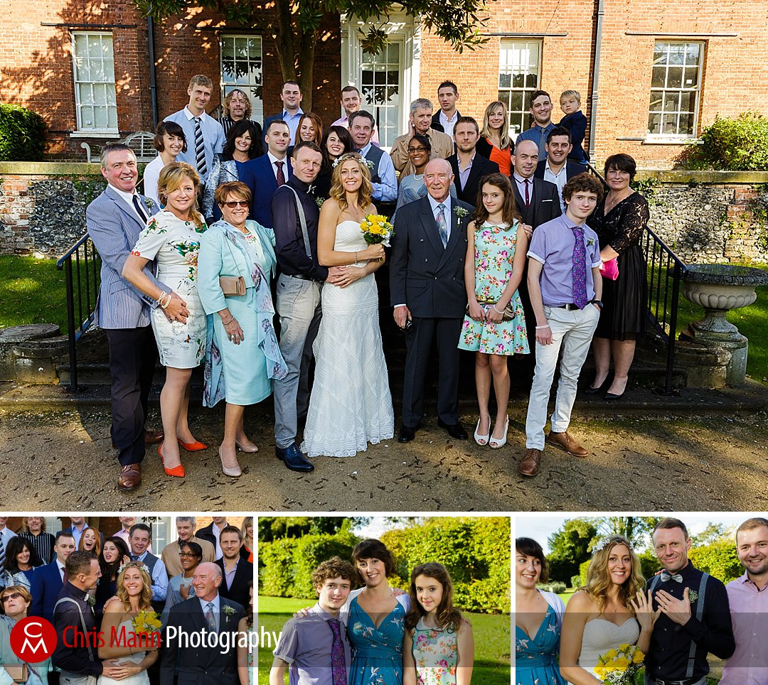family group photos in gardens The Mansion Leatherhead