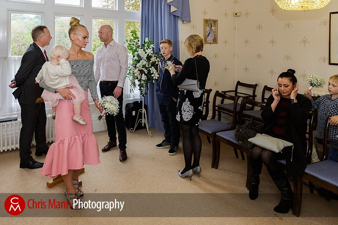 wedding at Guildford register office Artington House