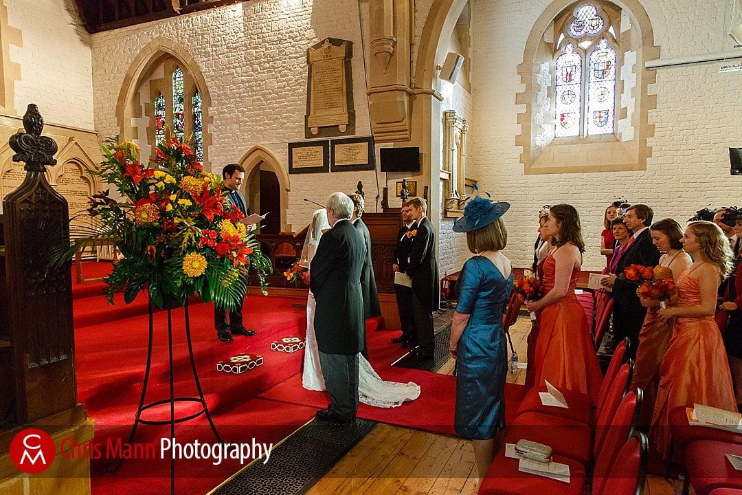 wedding ceremony St Ebbe's Oxford