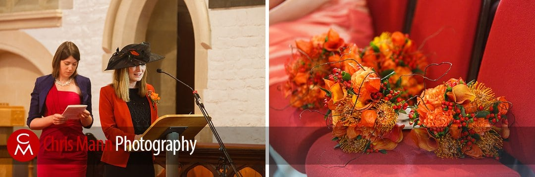 readings and flowers wedding St Ebbe's Oxford