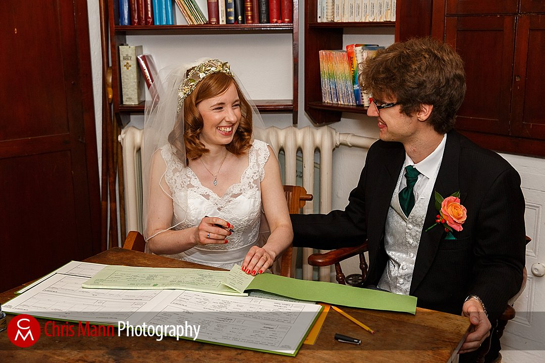 signing the register St Ebbe's Oxford