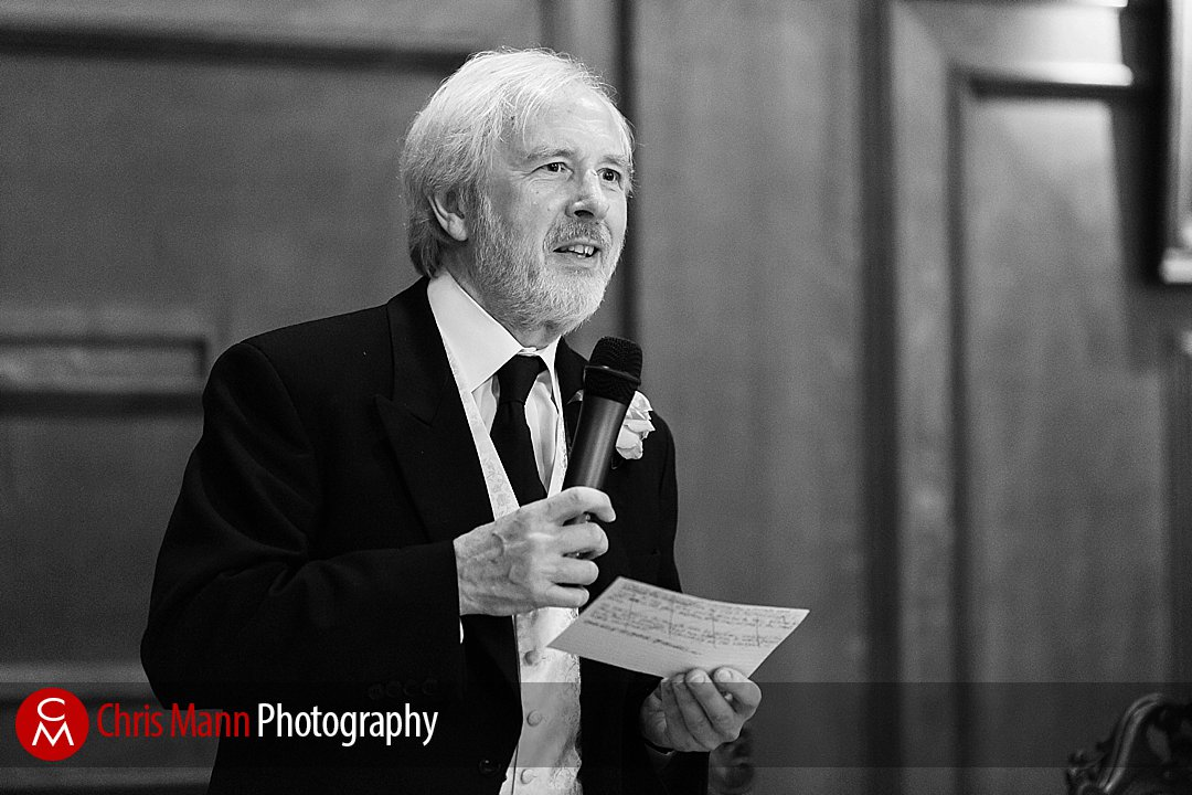 father of the bride speech black and white Lady Margaret Hall Oxford
