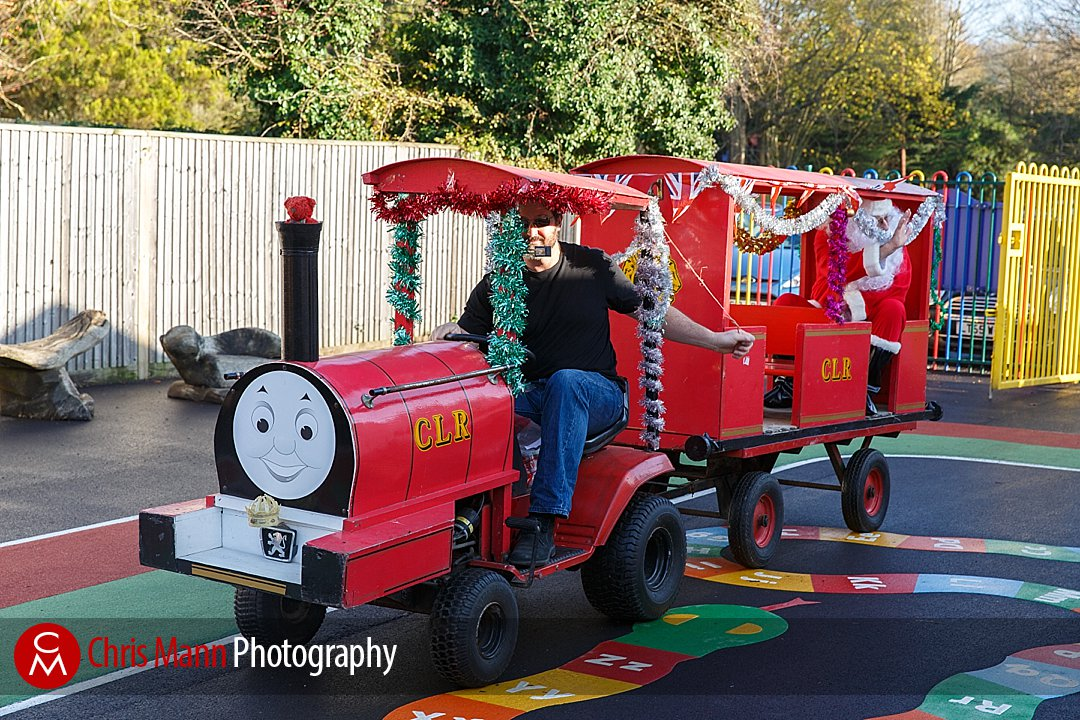 Santa arrived on his special train