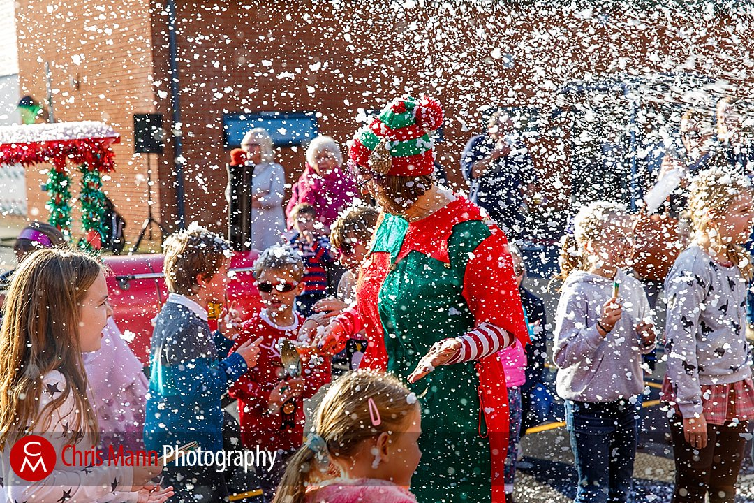 The snow machine was a big hit with the kids!