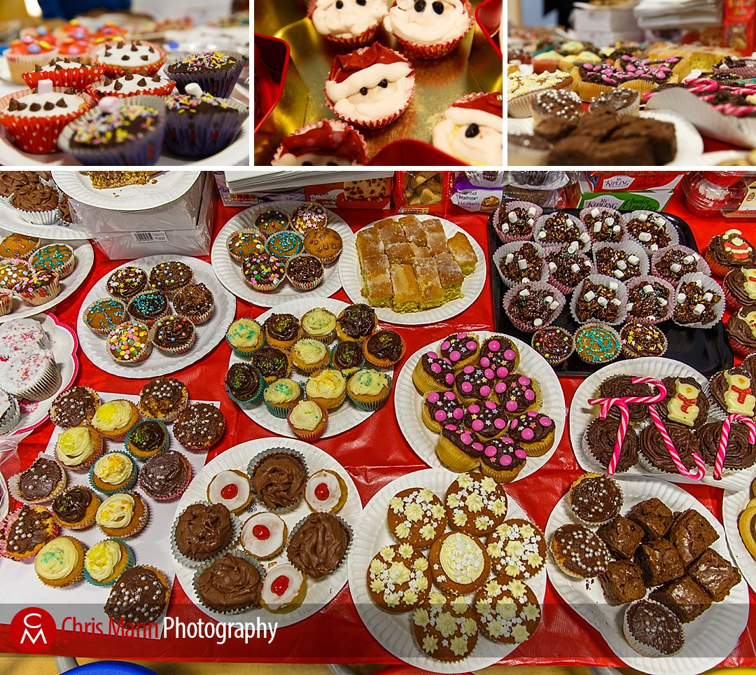 A fantastic array of delicious cakes was on sale