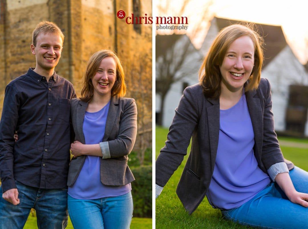couple photos Guildford evening portrait
