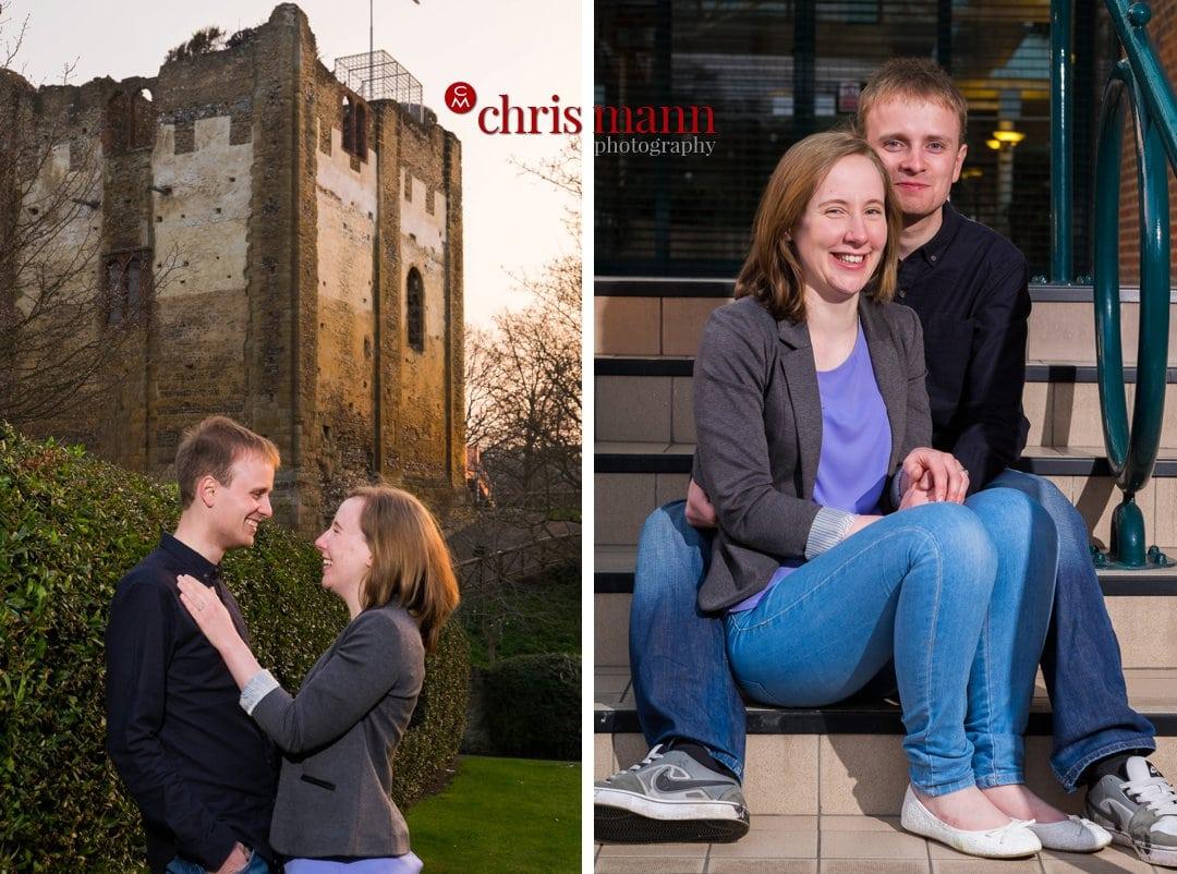engagement portraits at Guildford castle