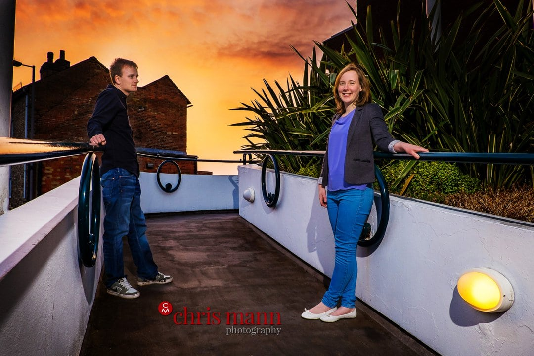 Guildford sunset engagement photo session