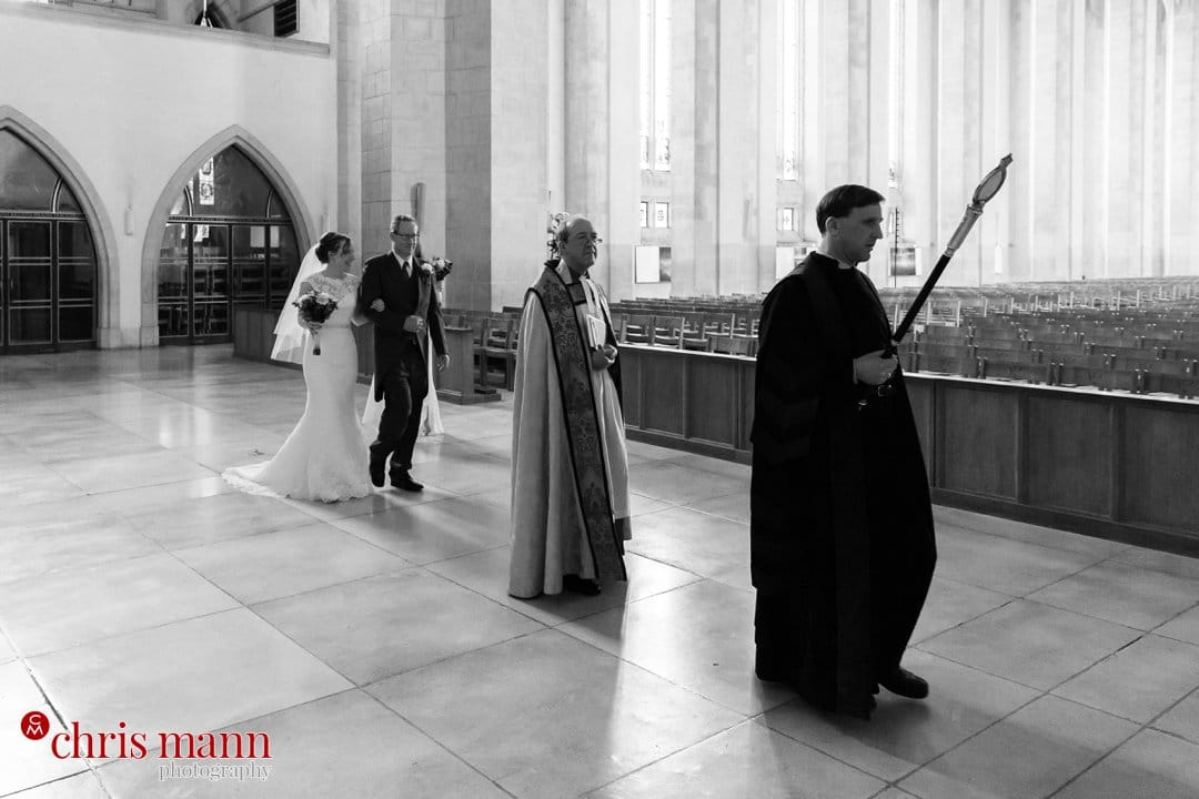 Guildford Cathedral bridal procession nave