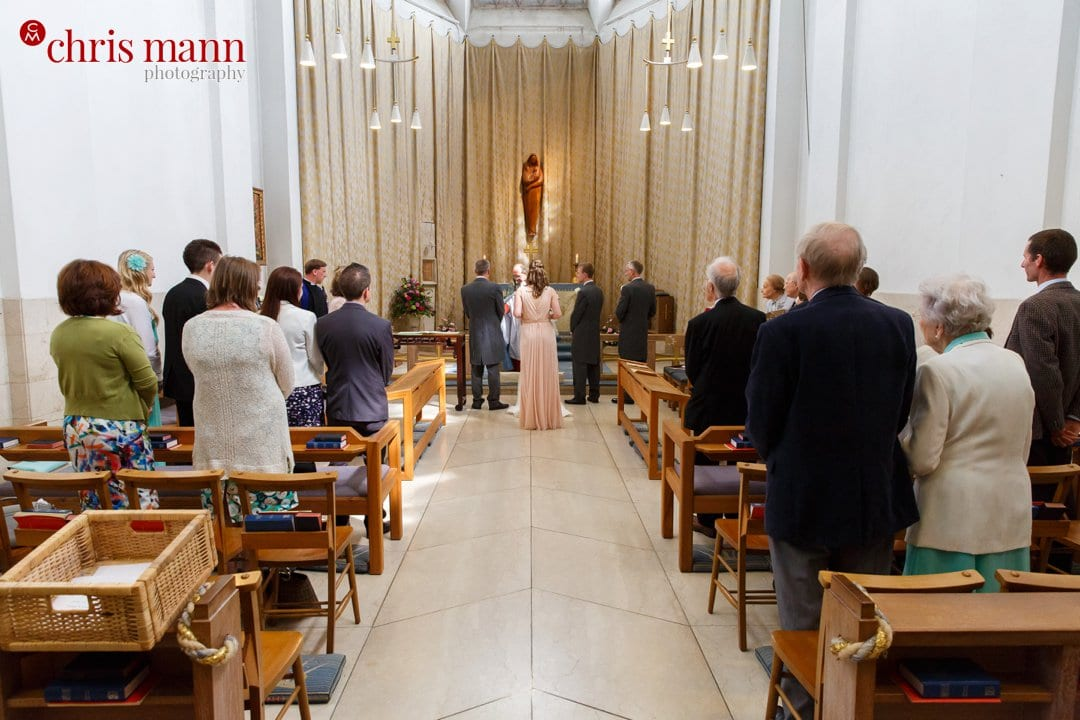 wedding ceremony Lady Chapel Guildford Cathedral