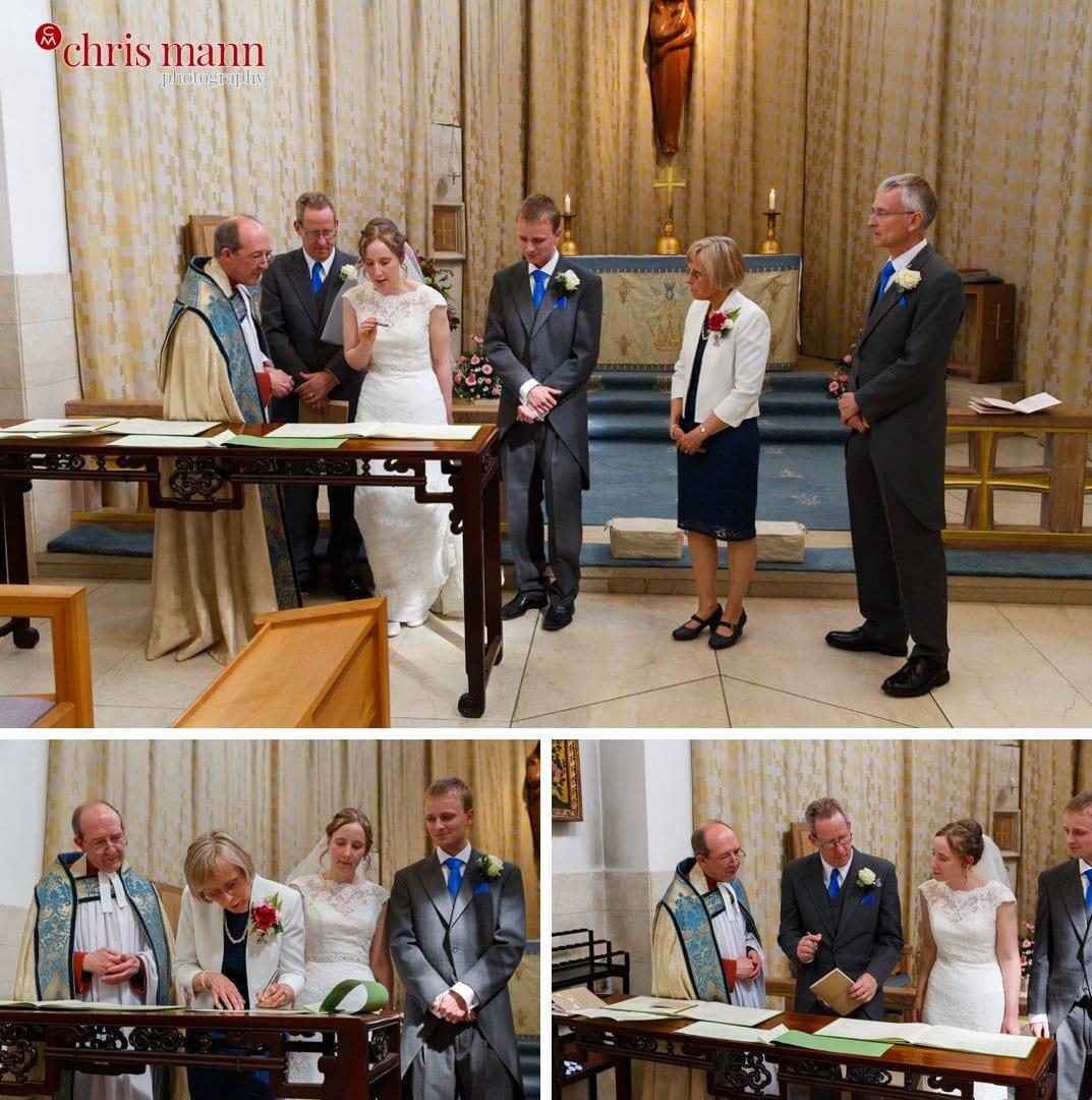 register signing wedding Guildford Cathedral