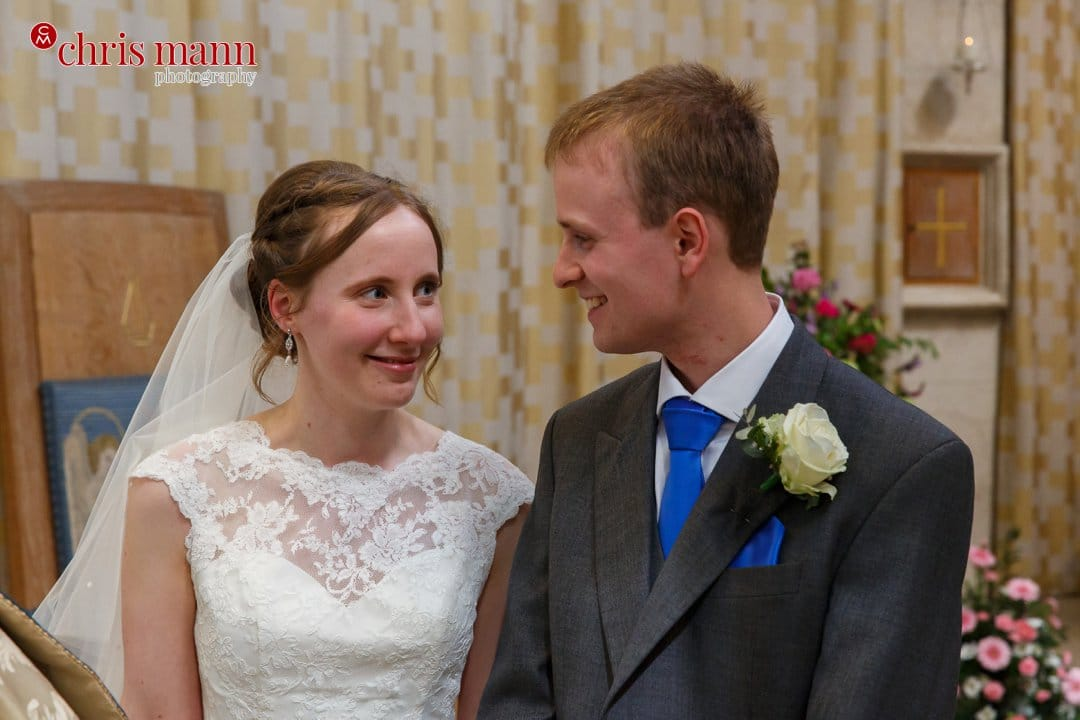 bride and groom wedding Guildford Cathedral