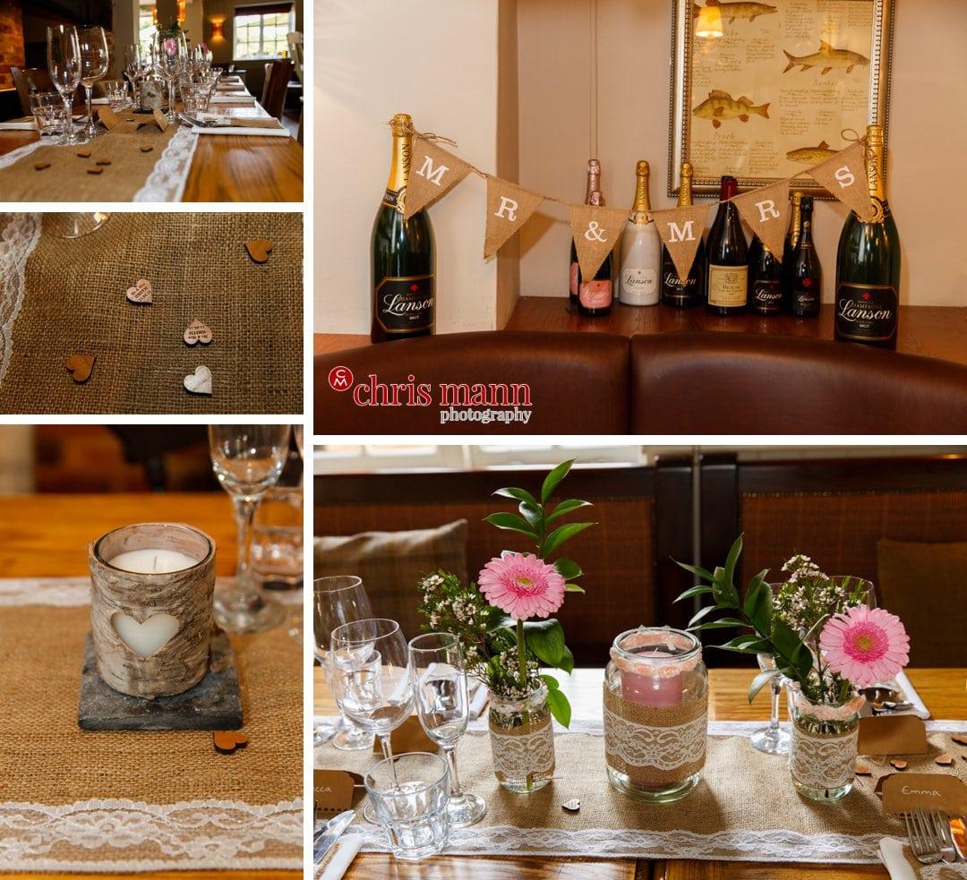 wedding table decorations