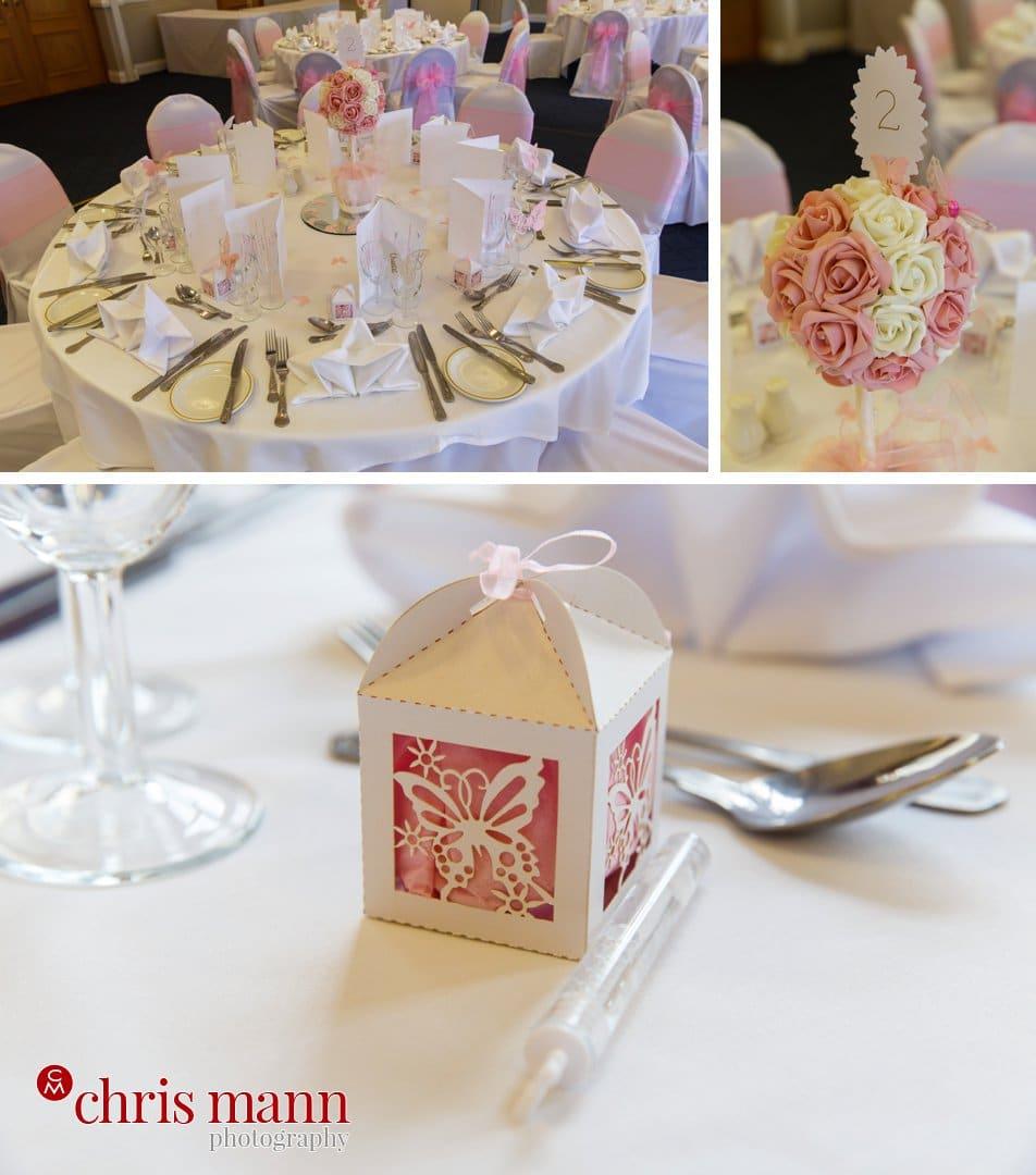 wedding breakfats table details