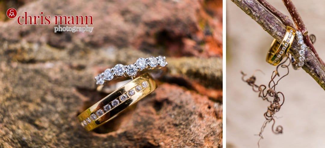 wedding rings close up photo