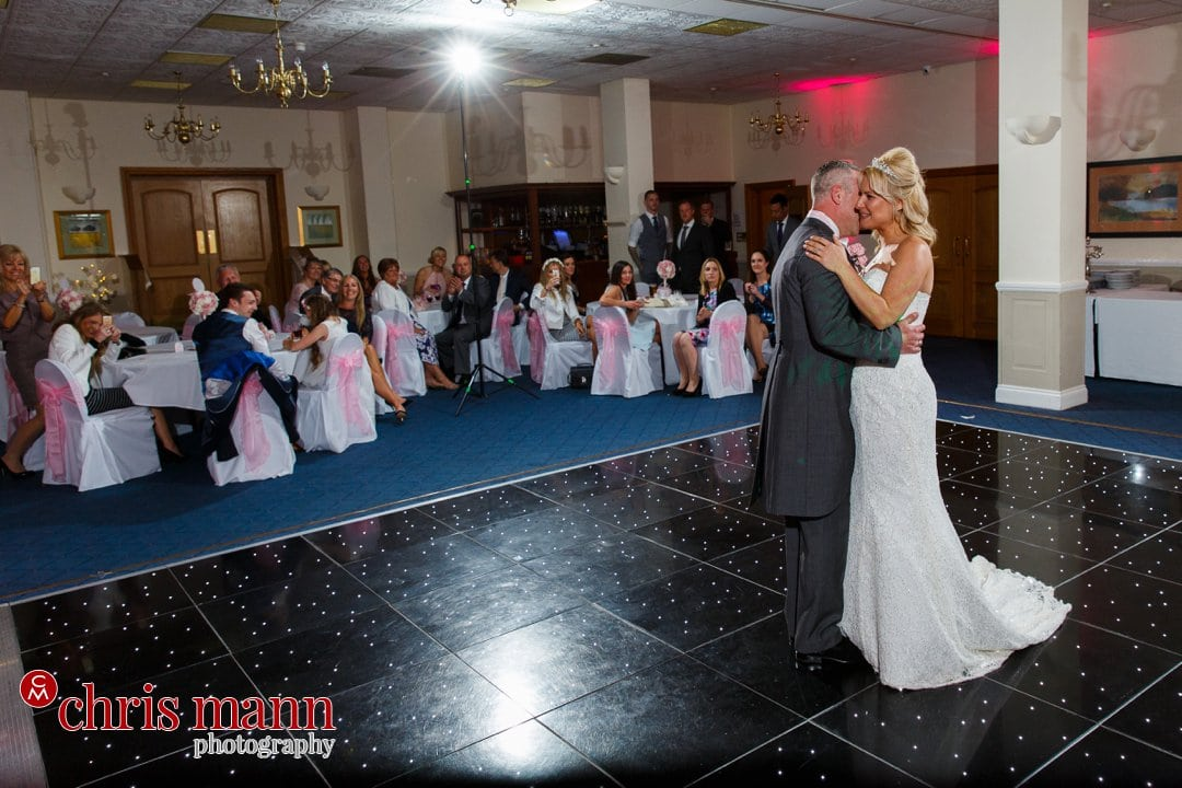 bride and groom first dance Manor House Hotel Guildford