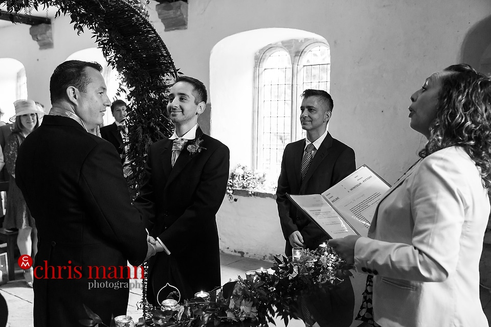 Brympton Somerset wedding ceremony in the Dower House