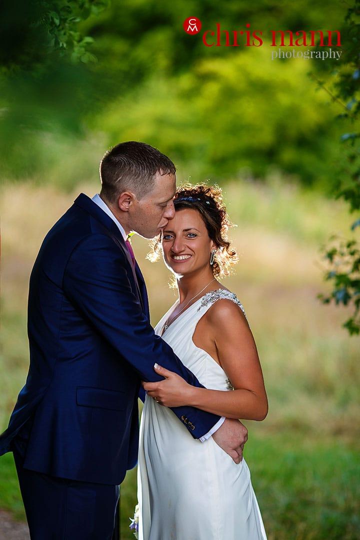bride and groom portrait surrey downs golf club wedding