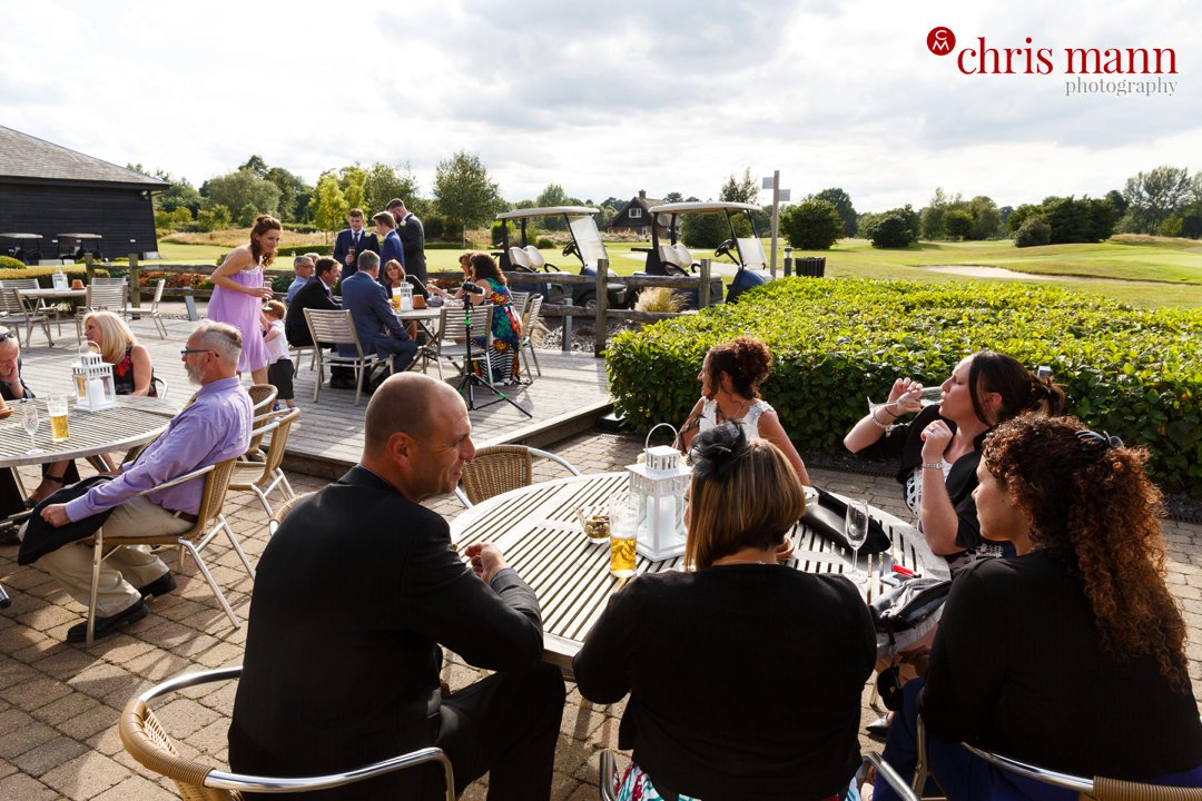 wedding reception outdoors Surrey Downs Golf Club Kingswood
