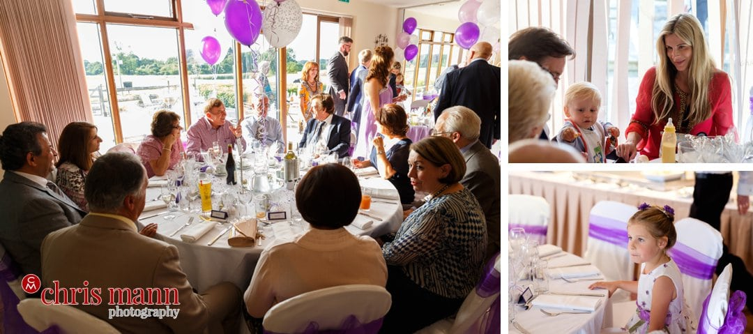 wedding reception meal bride and groom portrait Surrey Downs Golf Club Kingswood