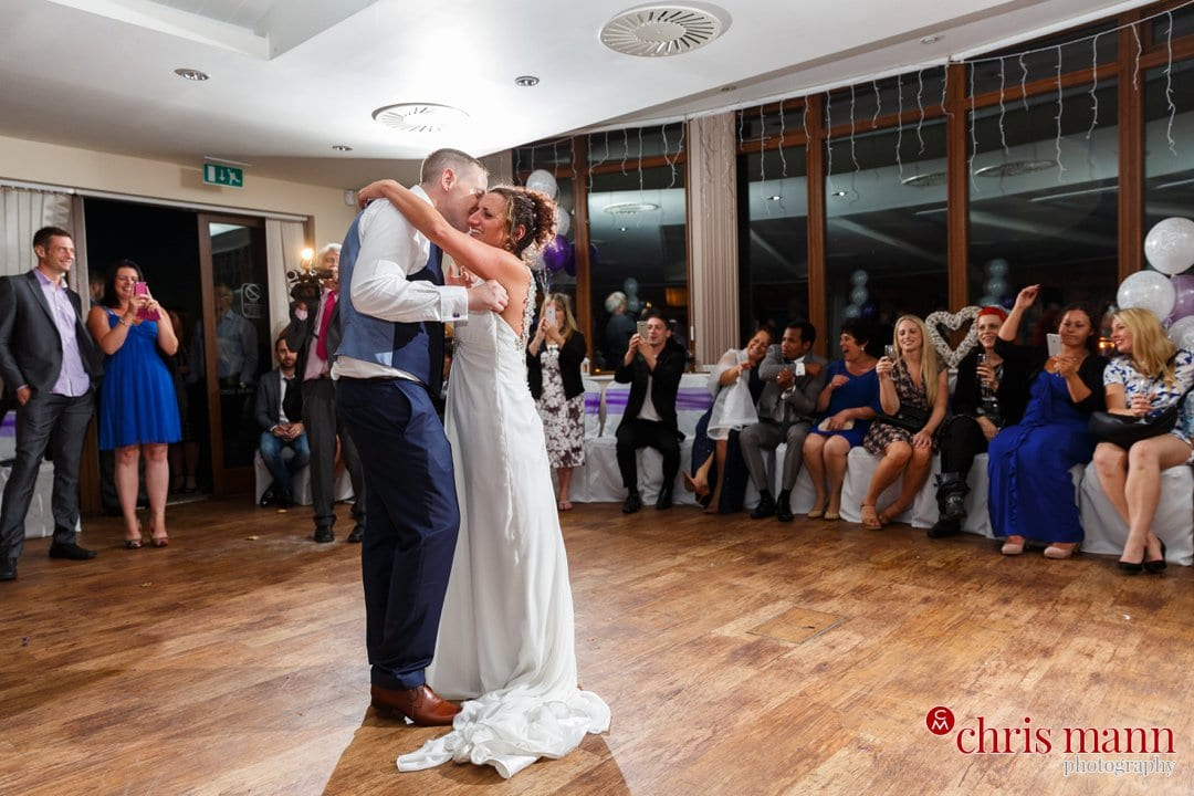 bride and groom first dance Surrey Downs Golf Club