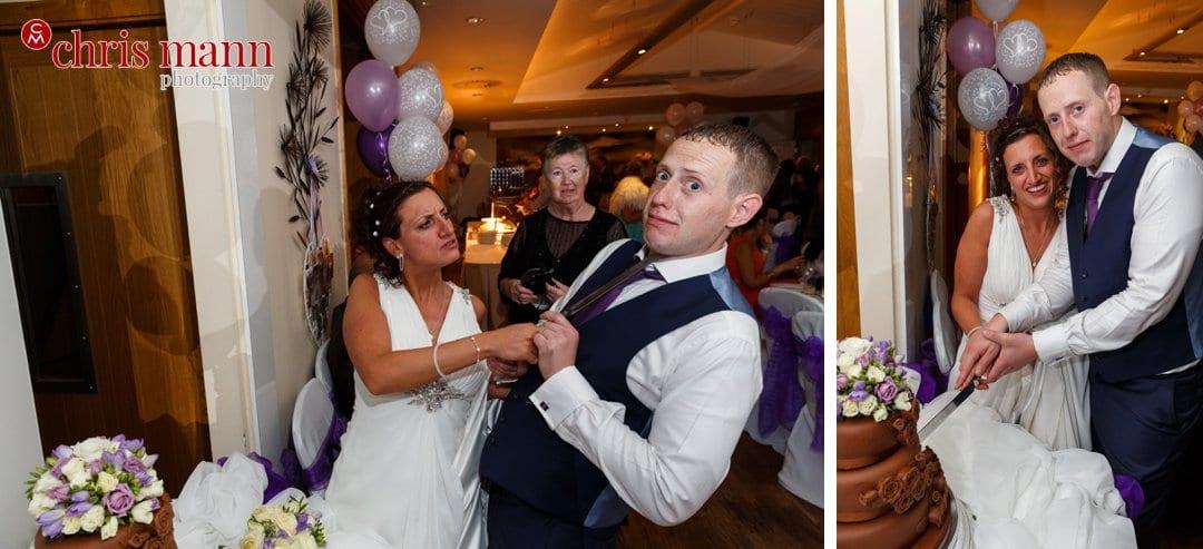 cake cutting bride and groom Surrey Downs Golf Club