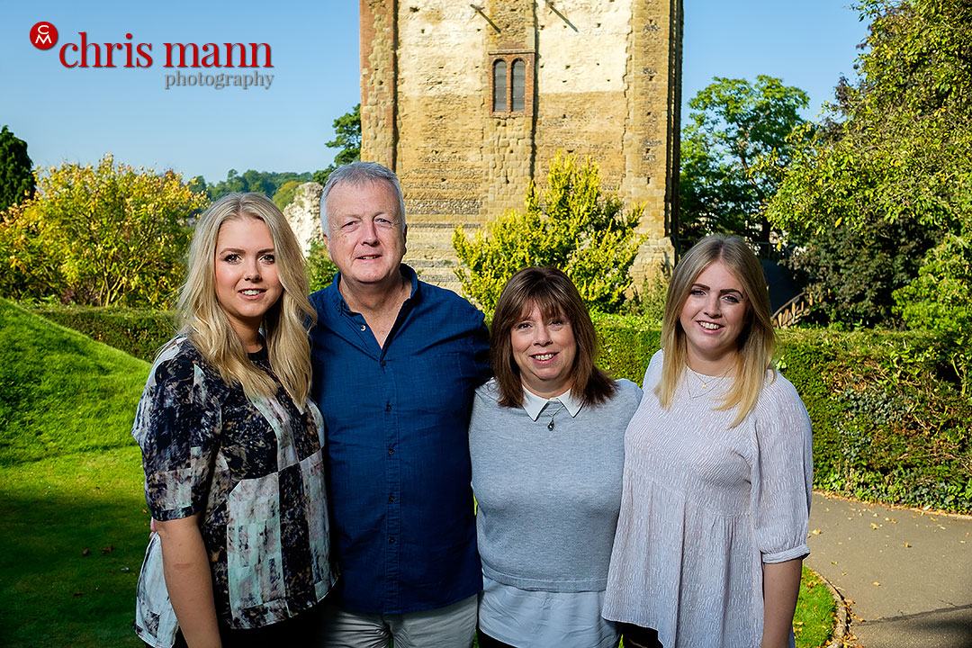 family portrait session Guildford Castle by Chris Mann Photography