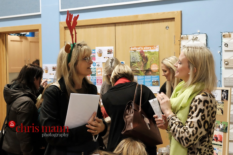 parents chat at Wonersh and Shamley Green Primary School Xmas Fair 2015