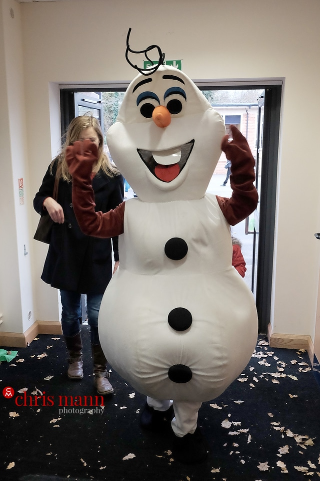 Olaf from frozen special guest Wonersh and Shamley Green Primary School Xmas Fair 2015