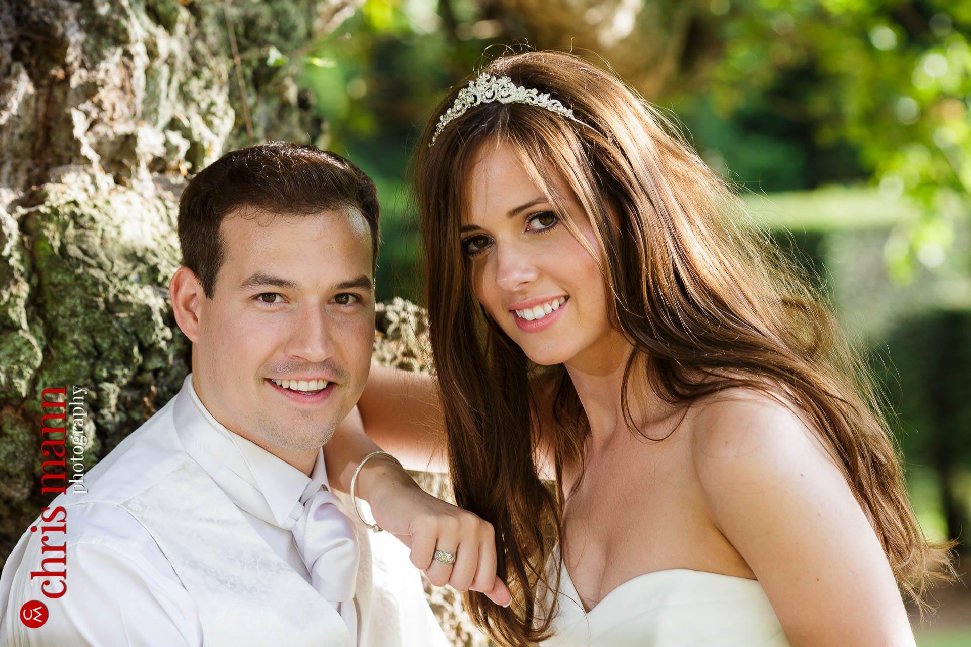 Brocket Hall wedding photography bride and groom